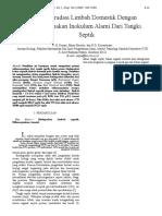 15846 ID Biodegradasi Limbah Domestik Dengan Menggunakan Inokulum Alami Dari Tangki Septi