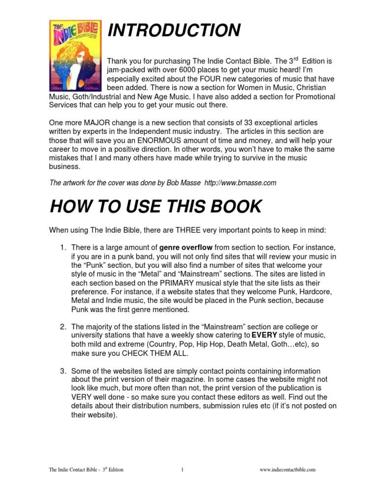 Indie_Bible_Third_Edition pdf   Alternative Rock   Rock Music