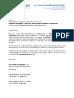 Recommendation Letter (OJT)