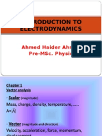 Introduction to Electrodynamics (notes)