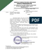 Surat Perubahan Jadwal USBN SMK 2018