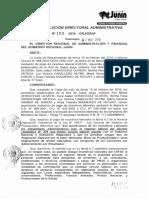 Resolucion Directoral Administrativa n 150-2016-Grj Oraf