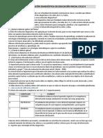 Protocolo Para Evaluación Diagnóstica de Educación Inicial Ciclo II -2018