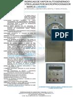 Autoclaves de Vapor Autogenerado Cilindricas de Una Camara 8 Programas Con Gabinete