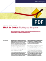 M&a 2012 - Picking Up the Pace
