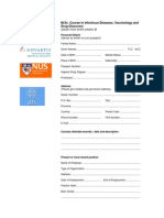 Application Form for MSc Course