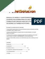 Manual de Manejo Caldera Aire Caliente Para Secador Rotatorio