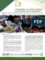 La Agriculture de Guatemala y El Cambio Climatico