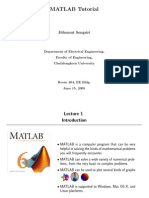 Matlab Tutorial June15 2005