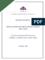 1 Mm Dd Baja Tensión Pi Pucallpa Agosto de 2014