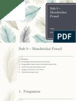 Bab 9 – Mendeteksi Fraud