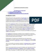 1.-La Industria de La Construcción en El Perú