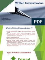 Writen Communcation