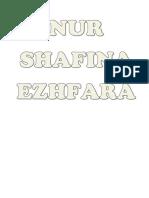 Nama Nur Shafina Ezhfara