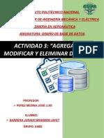 Agregar, Modificar y Eliminar Registros en MySQL
