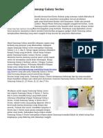 Jenis-jenis Tipe Samsung Galaxy Series