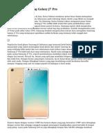 Spesifikasi Samsung Galaxy J7 Pro