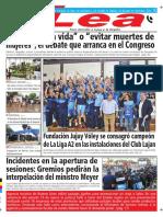 Periódico Lea Martes 10 de Abril Del 2018