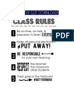 classroom procedures and rules