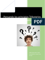 Pensando Los Principios Tributarios Constitucionales de Proporcionalidad y Equidad
