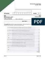 ESL G 8_Semester Exam_2015(Paper 4) Remedial