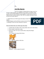 Science Year 5 Unit 2 Survival of the Species Notes and Exercise