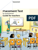 181158 Cambridge English Placement Test for Young Learners Teachers Guide