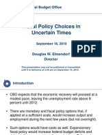 Elmendorf Fiscal Policy Choices in Uncertain Times
