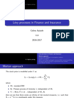 8.Levy Processes - Option Pricing