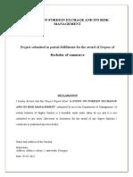 M.Com Project report