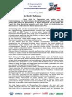 Eisspeedway Berlin 2018, Pressemitteilung 180408