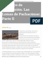 Derechos de Destrucción. Las Lomas de Pachacámac. Parte II – El Turistero