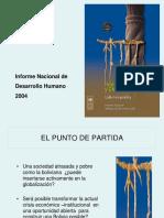 Índice de Desarrollo Humano en Los Municipios de Bolivia