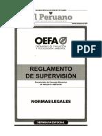 Reglamento de Supervisión Ambiental RCD 005-2017-OEFA