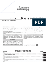 2016 Jeep Renegade Owner's Manual