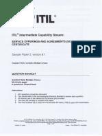 ITIL Sample Paper 2 - V6.1 - Question Booklet