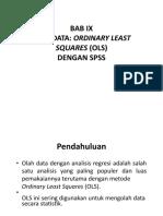 BAB IX- Olah Data OLS Dengan SPSS