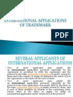 International Applications of Trademark