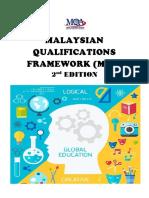 malaysian qualifications framework  mqf  2nd edition