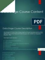 Data Stage course description