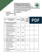 Daftar Inventaris Peralatan Klinis Gigi
