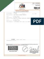 Certificado de Matrimonio Don Juan Carlos.