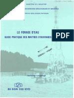 Brgm Le Forage d Eau Guide Pratique Des Maitres d Ouvrages 1977