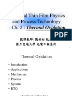 Chap 2 Thermal Oxidation