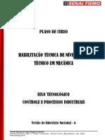 Plano de Curso - Técnico Em Mecânica Senai