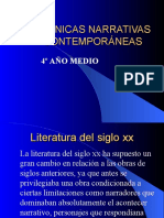 TÉCNICAS NARRATIVAS CONTEMPORÁNEAS