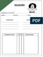 Fichas de Evaluacion, Heteroevaluacion, Coevaluacion y de Visitas
