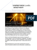 Para Comprender La 4ta Dimension