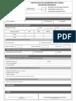 Certificado de Desempeño en El Cargo de Mayor Jerarquía