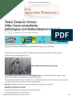 Testul Desenul Omului _ Consultanta Psihologica